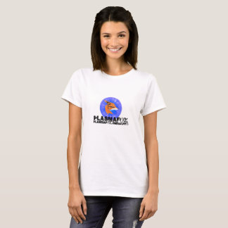 Camiseta O T das mulheres do emblema de PlasmaFox
