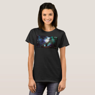 Camiseta O T das mulheres do ITC da caixa das áreas por