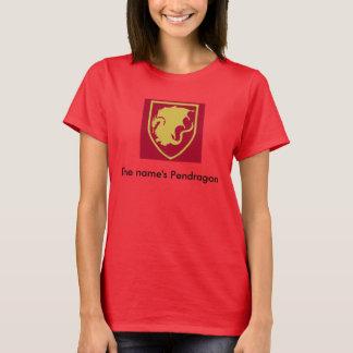 Camiseta O T das mulheres do Pendragon do nome