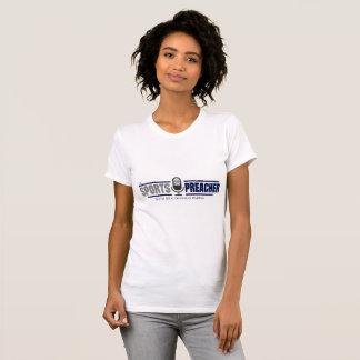 Camiseta O T das mulheres do pregador dos esportes