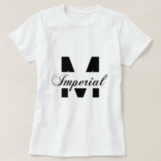 Camiseta O T das mulheres imperiais do pedreiro