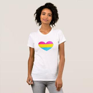 Camiseta O T das mulheres Pansexual do coração