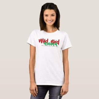 Camiseta O T das mulheres selvagens de Alaska do pássaro