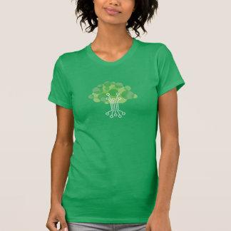 Camiseta O T das mulheres - verde