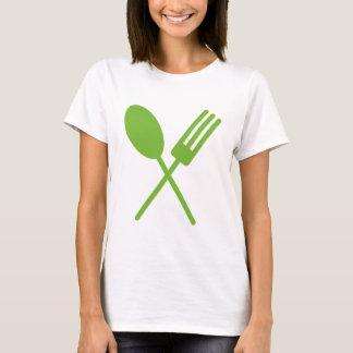 Camiseta O T das mulheres verdes de Spork