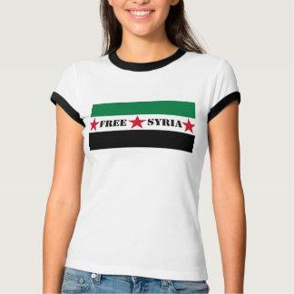 Camiseta O T das senhoras livres da bandeira de Syria