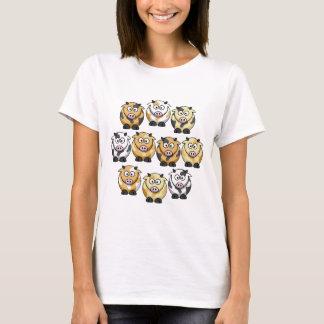 Camiseta O T de 10 mulheres da vaca