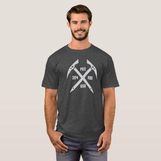 Camiseta O T de 304 homens do machado de gelo de RQS