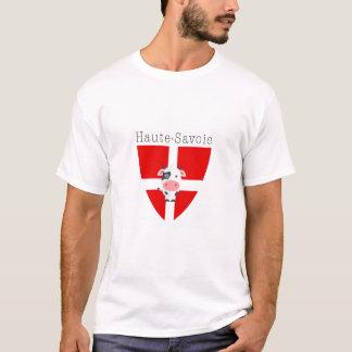 Camiseta O T de homens de vaca de Haute-Sabóia