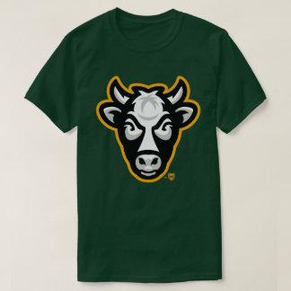 Camiseta O T de homens de vaca de Wisconsin (Forest Green)