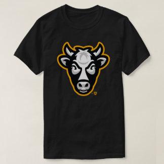 Camiseta O T de homens de vaca de Wisconsin (preto)