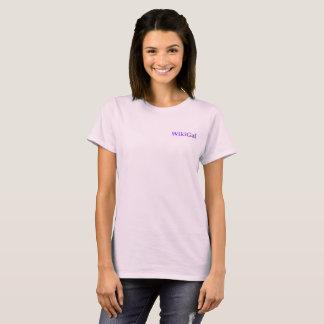 Camiseta O T de Wikigal para mulheres
