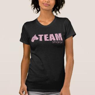 Camiseta o T destruído das senhoras de sharon da equipe