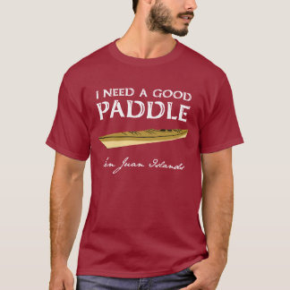 Camiseta O T do homem do Paddler do caiaque