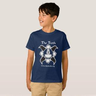 Camiseta O T do menino do Troth B&W (escuro)