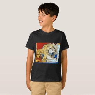 Camiseta O T do miúdo dos amigos do Macaw