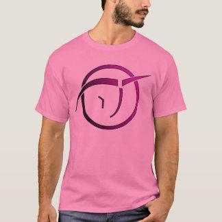 Camiseta O T dos homens cor-de-rosa invisíveis do unicórnio