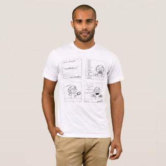 Camiseta O T dos homens da convicção & da moagem -