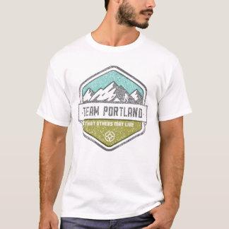Camiseta O T dos homens de Portland da equipe