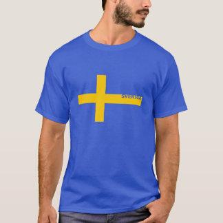 Camiseta O T dos homens de Sveriga S