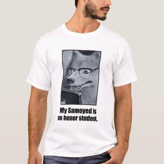 Camiseta O T dos homens do estudante da honra do cão do
