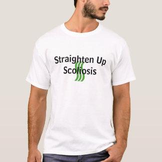 Camiseta O T dos homens endireita acima a escoliose