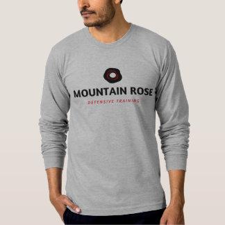 Camiseta O T dos homens longo-sleeved defensivo do rosa de