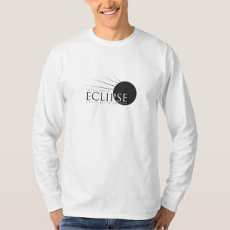 Camiseta O T dos homens Longo-Sleeved do eclipse solar 2017