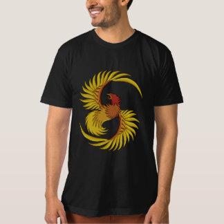 Camiseta O T dos homens orgânicos da arte de Phoenix