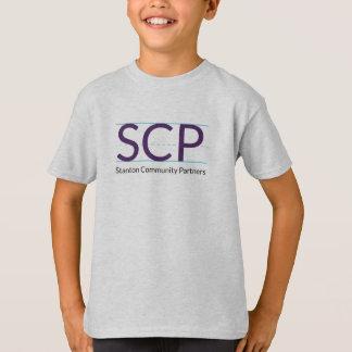 Camiseta O T dos miúdos do logotipo de SCP