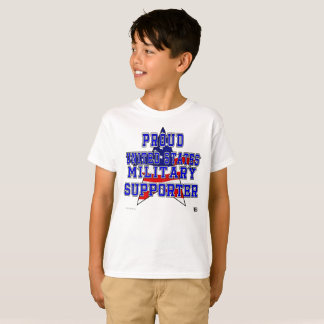Camiseta O T dos miúdos militares orgulhosos do suporte -