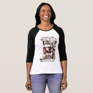 Camiseta O T gelado da mulher do Natal das noites do