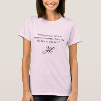 Camiseta O T gráfico das mulheres