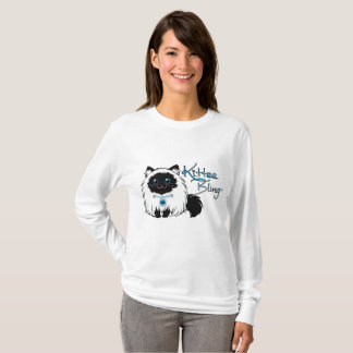 Camiseta O T Longo-Sleeved das mulheres