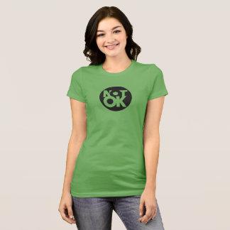 Camiseta O T NAO APROVADO das mulheres