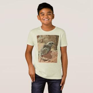 """Camiseta O T orgânico """"esquilo à terra do miúdo nos"""
