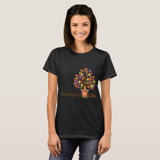 Camiseta O T preto das mulheres de MeaningfulLife