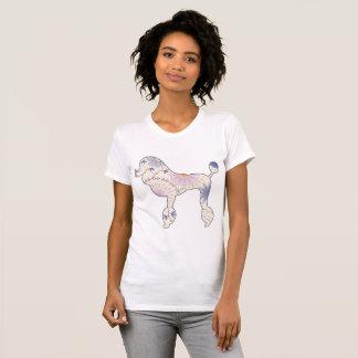 Camiseta O t-shirt americano das mulheres com vintage da