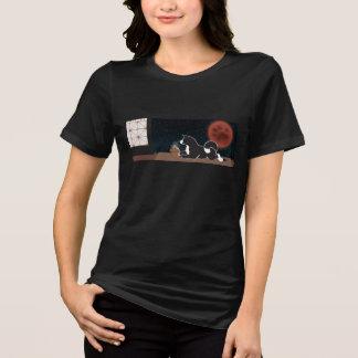 Camiseta O t-shirt apto relaxado das mulheres da colheita