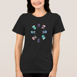 Camiseta O t-shirt apto relaxado das mulheres das medusa