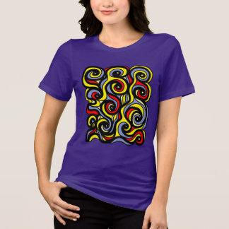 Camiseta O t-shirt apto relaxado das mulheres do
