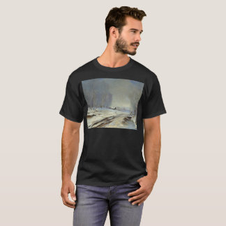Camiseta O t-shirt artístico da estrada adiante
