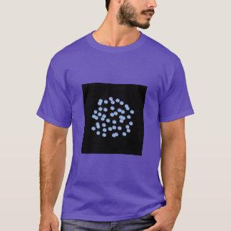 Camiseta O t-shirt básico azul de homens de bolinhas
