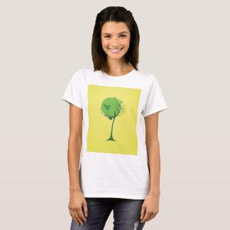Camiseta O t-shirt básico das mulheres abstratas da árvore