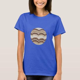 Camiseta O t-shirt básico das mulheres bege do mosaico