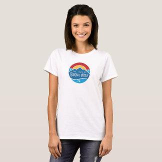 Camiseta O t-shirt básico das mulheres com logotipo redondo