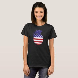Camiseta O t-shirt básico das mulheres da bandeira