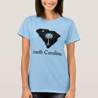 Camiseta O t-shirt básico das mulheres da lua do Palmetto