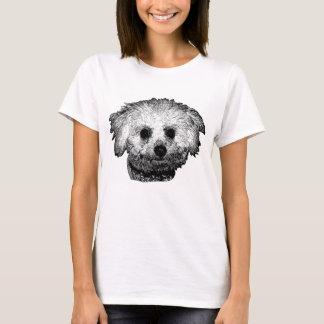 Camiseta O t-shirt básico das mulheres de Bichon Frise