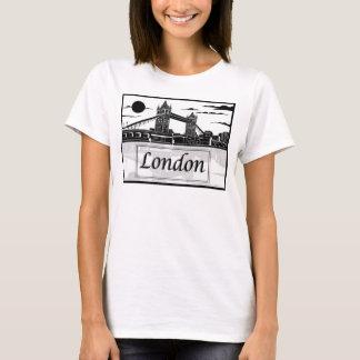 Camiseta O t-shirt básico das mulheres de Londres